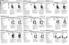 Bowflex Ultimate 2 Exercise Chart Best Bowflex Routines The Famous 20 Minute Workout
