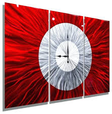 extra large wall clock extra large wall clock huge handmade wall art big red clock by extra large wall clocks contemporary