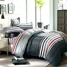 grey and red bedding sets queen stripes printing set duvet cover uk incredible co