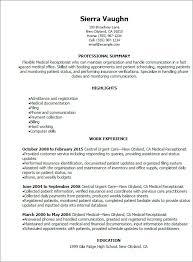 Medical Receptionist Resume Luxury 15 Awesome Receptionist Resume