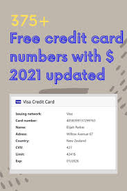 Check spelling or type a new query. Pin On Free Credit Card Numbers