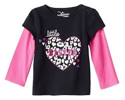 Details About Nwt Jumping Beans Glitter Mock Layer Skater Tee Black Heart Baby Girl Size 24m