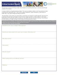 Free It Critical Incident Report Templates At Allbusinesstemplates Com