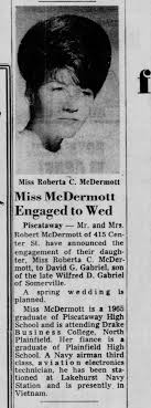 David Gabriel-Roberta McDermott engagement-The Courier News ...
