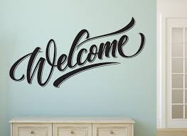 welcome wall sticker entrance hall wall art