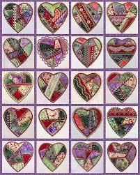 I ❤ crazy quilting beading, & embroidery . . . Pretty Crazy Heart ... & I ❤ crazy quilting beading, & embroidery . Pretty Crazy Heart Quilt, made  with 4 by 4 hearts. Adamdwight.com