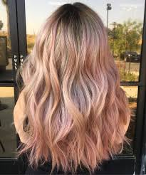 Rose Gold Hair Color Trend Is