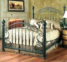 White Iron Bed Frame Queen Size Metal Frames Cheap Wrought ...
