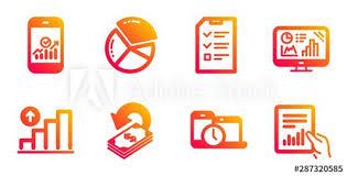 Cashback Time Management And Smartphone Statistics Line