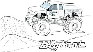 Grave Digger Coloring Pages Grave Digger Coloring Page Pages Monster