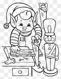 Printable Activity Elves In Christmas Coloring Pages Elf Coloring