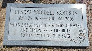 Gladys Ina Woodell Sampson (1912-2003) - Find A Grave Memorial