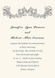 Basic Invitation Template Simple Wedding Invitation Wording Kinderhooktap Com