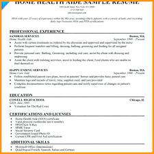 Resume Nurses Aide Resume
