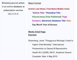 Mla Format Works Cited Website Citing A Website Apa Citation Generator Lib Manuals At Bowling