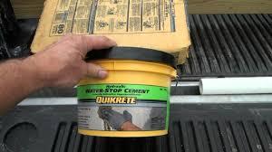 basement wall leaks repairing and