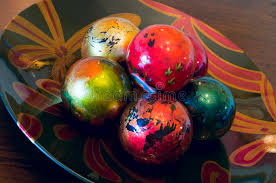 Decorative Balls For Bowl Decorative Ornaments In Bowl Stock Image Image of vibrant 32