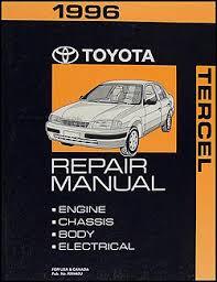 1996 toyota tercel wiring diagram manual original 1996 toyota tercel repair shop manual original 119 00