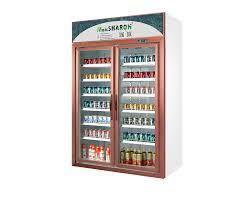 high quality 2 glass door rose gold display refrigerators