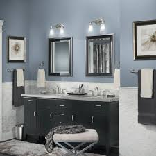 Best Grayish Blue Paint Colors For Modern Bathroom With Black ...