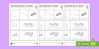 Note how we organize the letter columns below each cvc word in these power phonics worksheets. Find And Write The Oe Words Differentiated Worksheet Activity Sheets