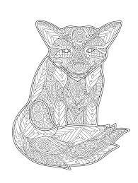 Zentangle A Stylisé Le Renard Illustration De Vecteur Illustration