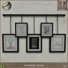 Picture Frames With Quotes Enchanting Second Life Marketplace RnB Mesh Hanging Frames Quotes Copy