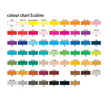 Fw Inks Colour Chart Ecoline Liquid Watercolour 38ml