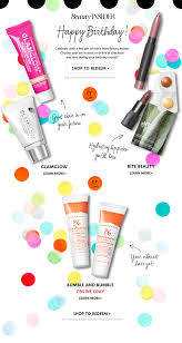 beauty insider happy birthday celebrate with a free gift of minis from beauty insider