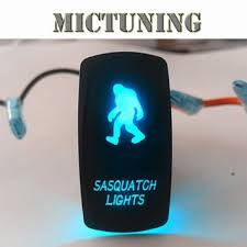 cheap wire rocker switch wire rocker switch deals on line at get quotations · mictuning laser blue 5 pins on off rocker switch sasquatch lights dual led lights male