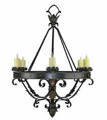 spanish wrought iron chandeliers revival
