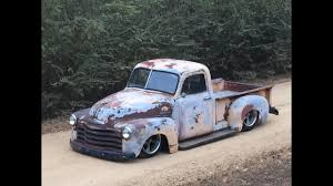 1953 BAGGED CHEVY 3100 PICKUP TRUCK RAT ROD HOT ROD AIR RIDE - YouTube