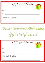 Free Online Gift Certificate Template Birthday Card