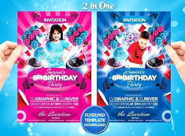 Birthday Invitation Flyer Template Party – Giancarlosopo.info