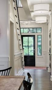 Black stair treads and rail and door paint color Benjamin Moore C235 ...