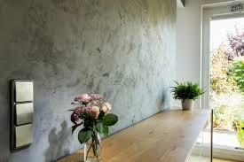 Esszimmer Wandgestaltung Cara Unico Stone Betonoptik