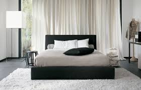 Small Black And White Bedroom White Bedroom With Color Accents White Cream Silk Curtains Natural