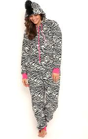 plus size footed pajamas deb shops plus size zebra print onesie with mohawk 35 00 things i