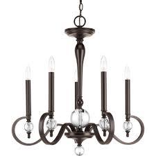progress lighting esteem collection 5 light antique bronze chandelier