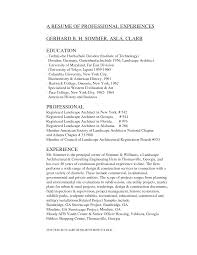 Landscaping Resume Examples Landscape Architecture Resumes Examples Bongdaao 63