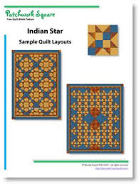 Indian Star - Free Quilt Block Pattern - Patchwork Square & ... quilt block, with alternate blocks rotated by 90 degrees, resulting in  a secondary pattern emerging. Secondly, by setting the blocks on point, ... Adamdwight.com