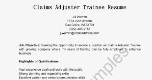 Claims Adjuster Resume Unique Claims Adjuster Resume Canreklonecco