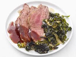 chipotle steak with collard greens recipe food network kitchen food network