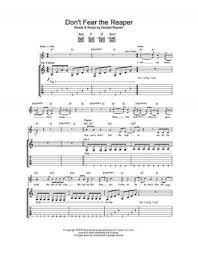don t fear the reaper sheet music dont fear the reaper sheet music