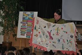 Photos from the issue dated September 23, 2011 - newtownbee & Author Patricia Polacco displays the family heirloom quilt on which her  book, The Keeping Quilt Adamdwight.com
