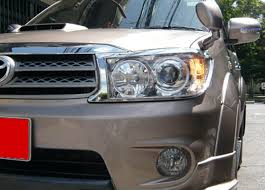 FOR TOYOTA FORTUNER 2009-2010 SUV CHROME FRONT HEAD LAMP LIGHT ...