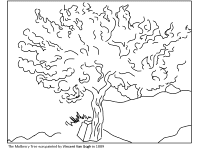 Small Picture Famous Works of Art Coloring Pages