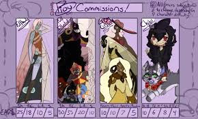 commission sheet commission price example sheet outdated by pioy on deviantart