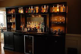 Home Bar DIY- love it and you could easily extend it to sit at too   For  the Home   Pinterest   Bar, Entertainment and Basements