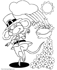 Hello kitty coloring pages st patricks day. St Patricks Day Coloring Pages Mouse And Shamrocks Coloring Home